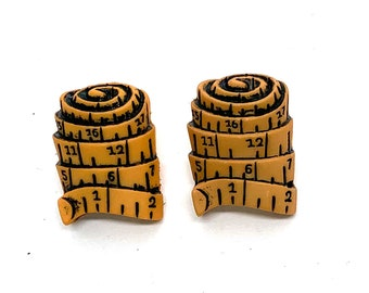 Tape Measure Button Shank Flat Back Choice Sewing Room Jesse James Dress it Up Buttons - 1336