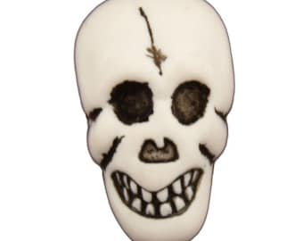 Skull Buttons Galore Halloween Shank Flat Back Choice - H108 A