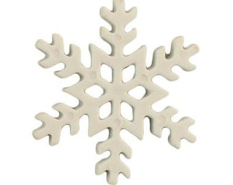 """Snowflakes Buttons Galore 3/4"""" Two Hole Sew Thru Flat Back 1185 L"""