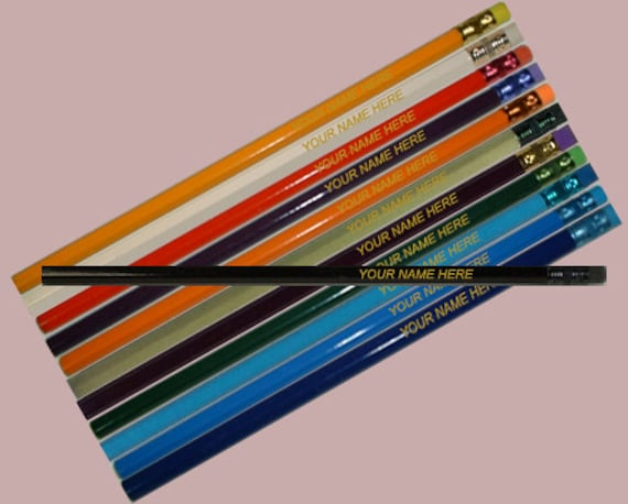 6 Hexagon Assorted Personalized Pencils
