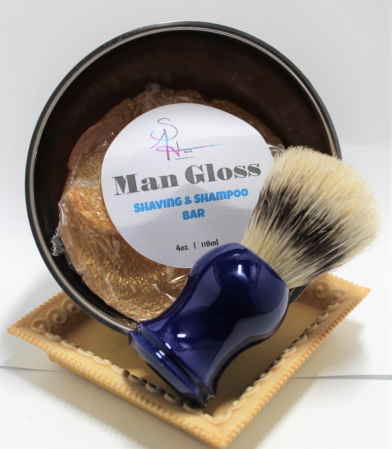 Shaving Soap Trio With Brush And Bowl image 0