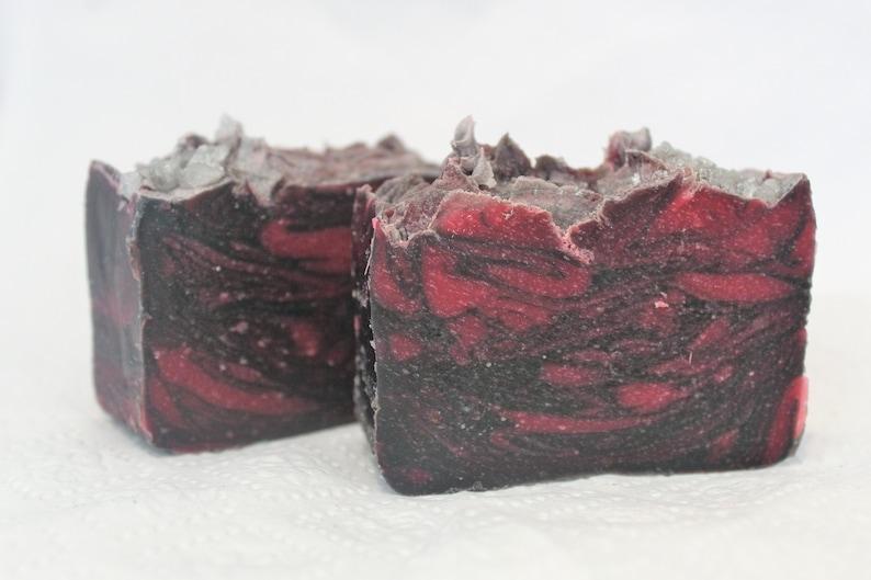 Midnight Flame Bar Soap Cold Process Body Soap Lard Soap image 0