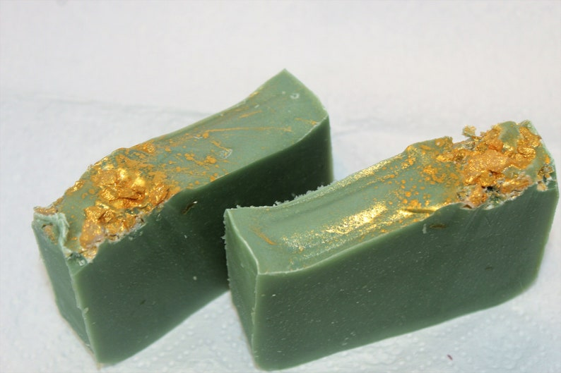 Golden Jade Handmade Cold Process Body Soap image 0
