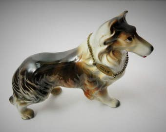 Collie Figurine - made in Japan