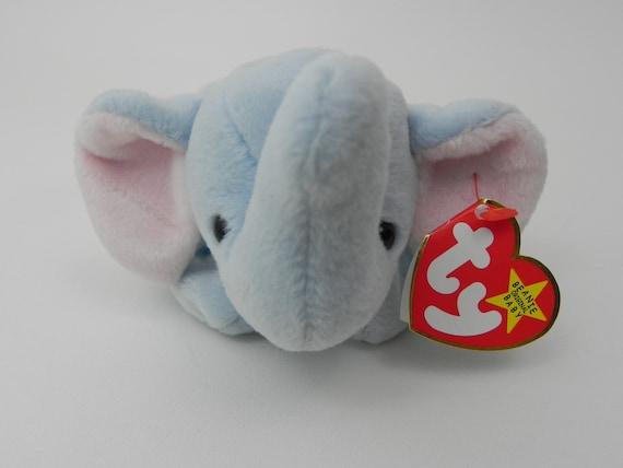 e7397f9ec21 Ty Beanie Baby Peanut the Elephant PVC Pellets