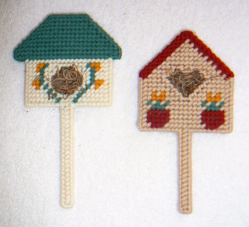 BIRDHOUSE MAGNETS~Hand Stitched~Button Magnet~Finished Back~Button Magnet~Home Kitchen Decor~Designs Vary