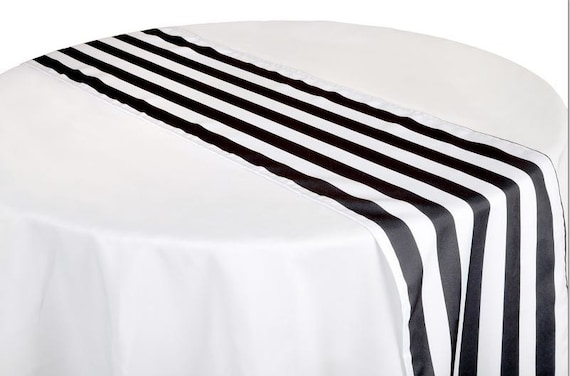 Striped Tables Runner 12 Black Striped Table Runner Kate Etsy