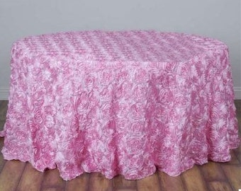 Rosette Tablecloth,  Rosette Table Cloth, Rosette Fabric, Rosette Table Runner, Rosette Table Linens, Rosette Table Cover, Fabric Rosettes