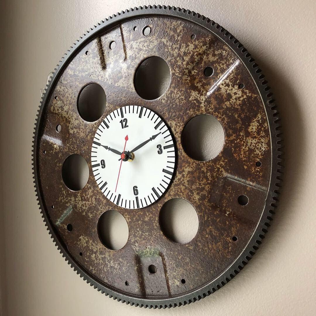 Chevy 350 Flywheel Wall Clock Etsy
