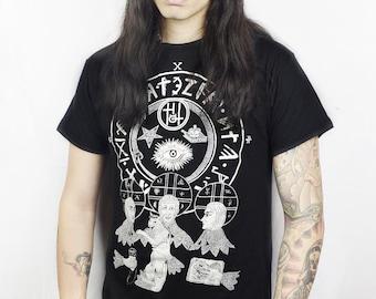 Limited TRINITY illustration t shirt by Karina Akopyan black tank top tshirt Symbols Occult Saints Satanic Witch Punk Rocker Rock Goth Wicca
