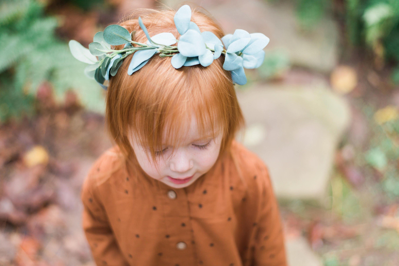 Halo Style Childrens Greenery Crown Eucalyptus Etsy