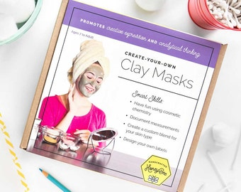 Clay Masks Kit: Make 2 customized facial masks with up to 10 uses each