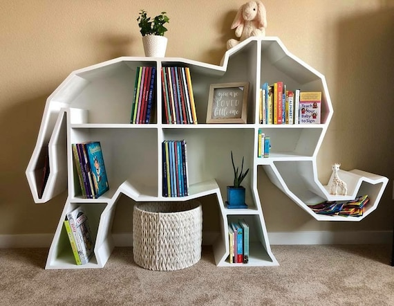 Cute Elephant Bookcase for Kids