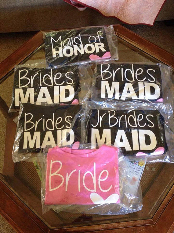 Custom Bride Custom Bridal Party Shirts Bridesmaids Shirts Etsy