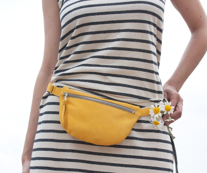 6f8e0d9aa5ff Small Leather Fanny Pack, women Waist bag, small fanny pack, small belt  bag, yellow waist purse, cute fanny pack, women pocket belt, bumbag