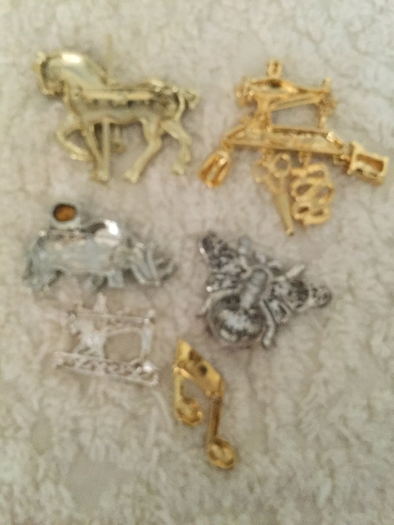 Mixed BroochPin Lot 6 Pieces NICE!