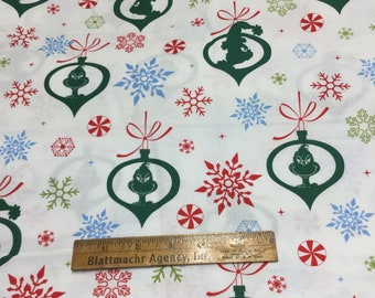 How Grinch That Stole Christmas Fabric - Ornament Print - FUN!