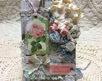 SHABBY CHIC Tea Party Pennant - Handcrafted