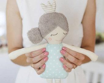 Rag Doll Sleeping Princess, stuffed toy or nursery decor