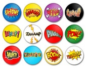 Items similar to Superhero Comic Book Sound Effects Button