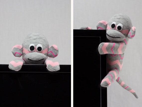 Überwachen Sie Deckel Socke Affe Schreibtisch-Accessoire