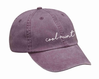 Choose color hat and vinyl print Strap back Hat Blessed Auntie Hat Aunt to be Gift for aunt Gift for her Pigment Dyed Hat