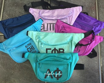 Custom Design Fanny Pack. Monogram. Sorority. Big/Little. Bride Squad.