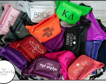 Custom Design Fanny Pack | Monogram Gift | Sorority | Big/Little | Bride Squad | Bachelorette Gift | Matching Fanny Pack | Birthday Gift