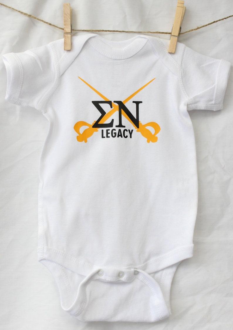 White Fraternity Legacy Baby Bodysuit