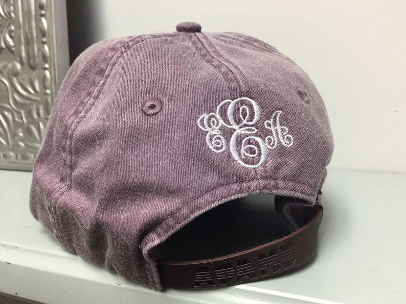 Burgundy Pi Beta Phi Hat Embroidered in White Script