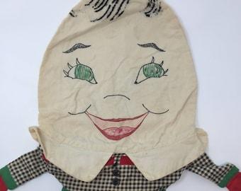 Darling Vintage Humpty Dumpty Pajama/Plastic Bag, Handmade