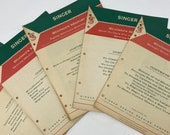 Copy of 5 Vintage 1960 Featherweight Singer Student 39 s Manuals, 139 pages, For 404, 221, 201, 301, and More