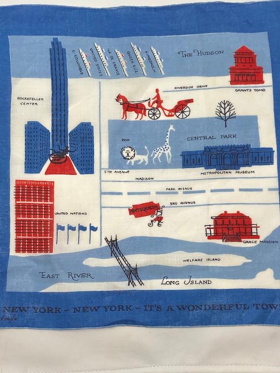 Vintage Handkerchief Tammis Keefe New York New Yor