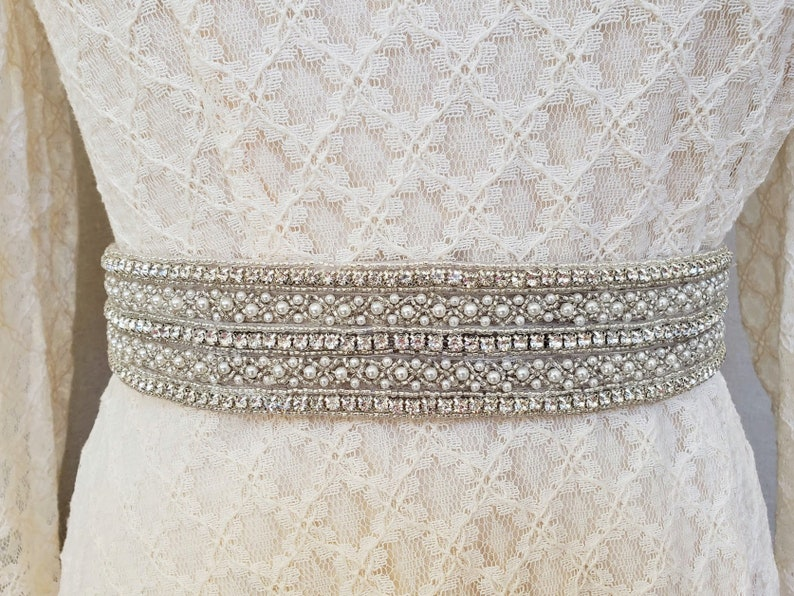 93eae806ed Wide Wedding Belt Wide Rhinestone Belt Art Deco Bridal Belt