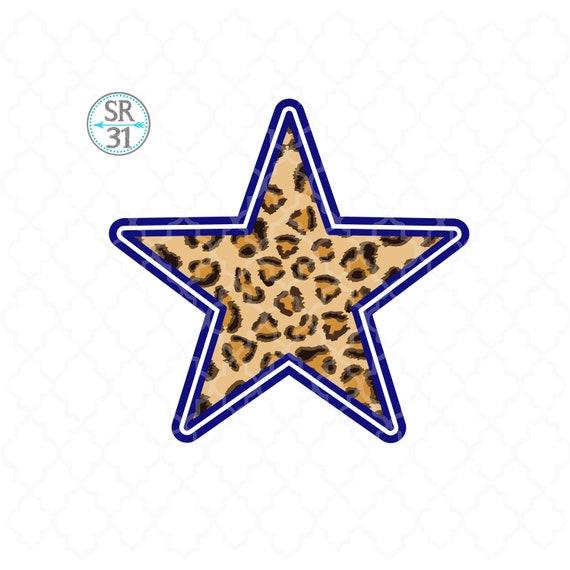 Download Free Leopard Star Football Sublimation Design Download Leopard Star Etsy PSD Mockup Template
