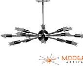 Sputnik Atomic Starburst Light Lamp Chandelier Mid Century Modern Eames Chrome Free Light Bulbs