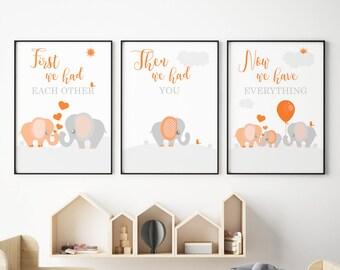 Orange Nursery Decor Etsy