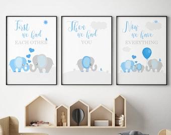 Blue Nursery Art Etsy