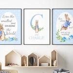 Peter Rabbit Wall Art - Peter Rabbit Nursery Wall Decor, Blue Nursery Prints, Peter Rabbit Nursery Prints, Peter Rabbit Gifts, Blue Decor