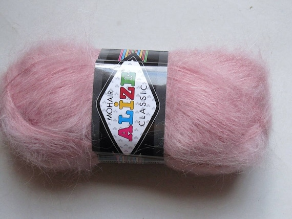 2ab8eb21a0c Items similar to Mohair pink Mohair Classic New Alize 161 200gr on Etsy
