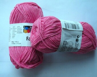 10 balls lace 41 cotton candy pink Favorito 00036 Schachenmayr