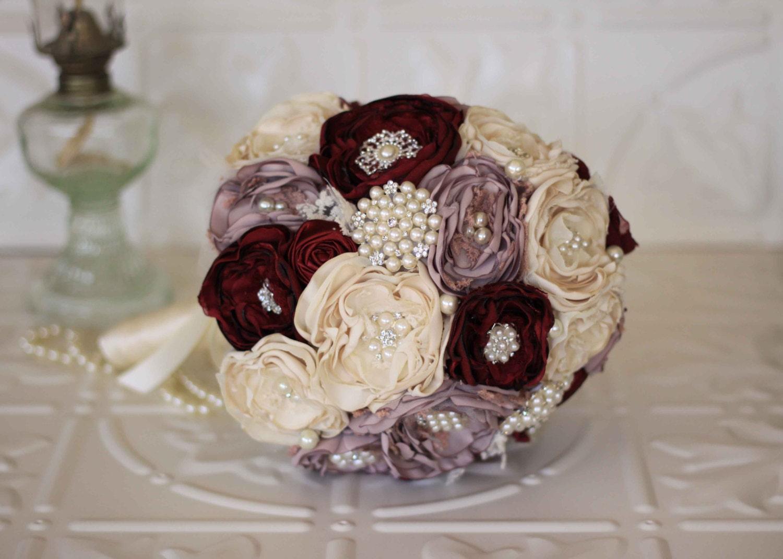 Fabric flower bouquet lace bridal bouquet cream dusty pink etsy zoom izmirmasajfo