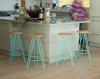 Bar stool, Counter Stool, mid century bar stool, industrial bar stool, Kitchen Bar Stool, Hairpin Legs, Industrial stool, Eames.