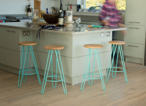 Swell Hairpin Leg Bar Counter Stools Plywood Oak Walnut Pdpeps Interior Chair Design Pdpepsorg