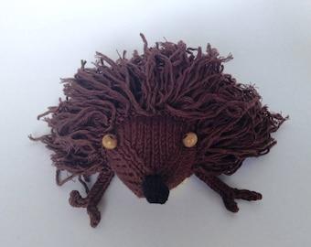 Brown Hedgehog stuffed soft plush