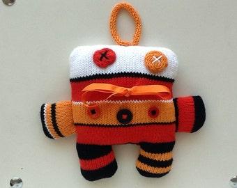 funny multicoloured suspend or cuddling robot!