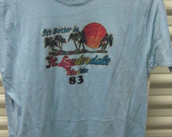 "1983 Florida ""Spring Break"" retro shirt (M)"