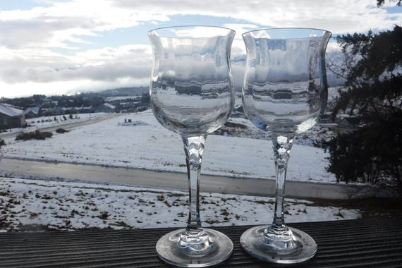 """Towle Crystal Silhouette Water Goblet Clear w Optic 8 1//2/"""" T"""