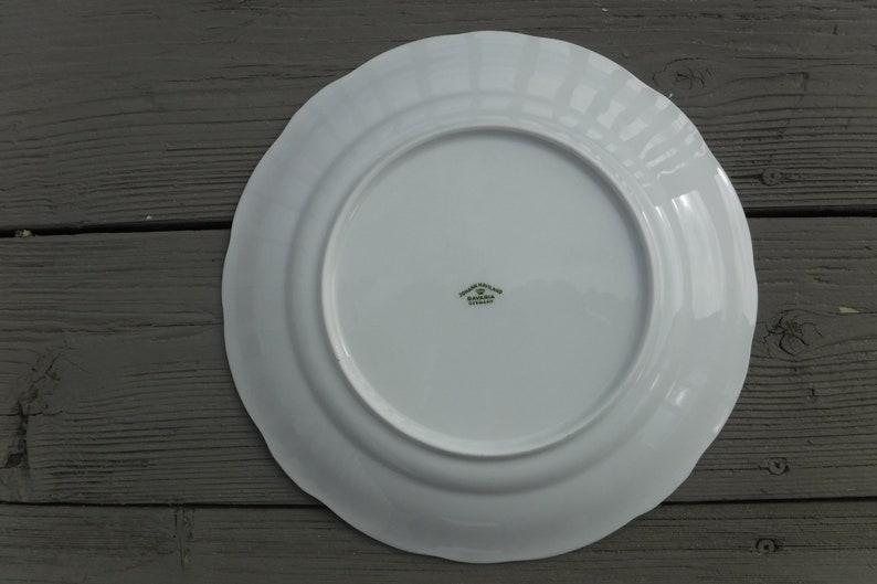 Johann Haviland /'Blue Garland/' Dinner Plate 10 Diameter Green Bavarian Backstamp