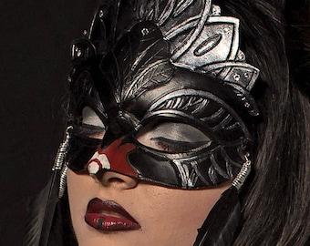 Swan Lake Fairy Tale Ballerina Black Swan Princess Queen Leather Mardi Gras LIMITED EDITION Masquerade Mask